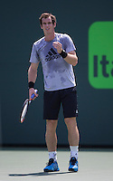 ANDY MURRAY (GBR)<br /> Tennis - Sony Open - ATP-WTA -  Miami -  2014  - USA  -  17 March 2014. <br /> &copy; AMN IMAGES