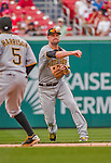 21 June 2015: Pittsburgh Pirates infielder Jordy Mercer in action against the Washington Nationals at Nationals Park in Washington, DC. The Nationals defeated the Pirates 9-2 to sweep their 3-game weekend series, and improve their record to 37-33. Mandatory Credit: Ed Wolfstein Photo *** RAW (NEF) Image File Available ***