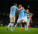 Football-Manchester City v Liverpool-Barclays Premier League-Etihad Stadium-26/12/2013-Pictures by Paul Currie-KEEP-Manchester City's Vincent Kompany celebrates scoring Manchester City's first goal