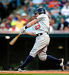4 September 2009: Minnesota Twins' shortstop Brendan Harris in action against the Cleveland Indians at Progressive Field in Cleveland, Ohio. The Indians defeated the Twins 5-2 to take the first game of their three-game weekend series. Mandatory Credit: Ed Wolfstein Photo