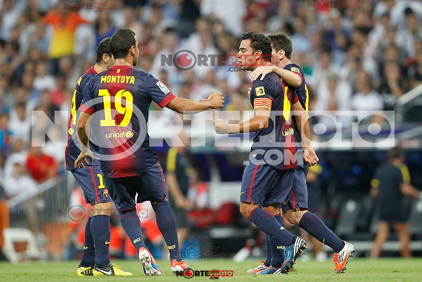 F.C. Barcelona's Lionel Messi goal during Spanish Supercup 2nd match on august 29 2012...Photo: Cesar Cebolla / ALFAQUI /NortePhoto.com<br />