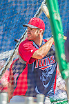 8 June 2013: Minnesota Twins catcher Joe Mauer takes batting practice prior to a game against the Washington Nationals at Nationals Park in Washington, DC. The Twins edged out the Nationals 4-3 in 11 innings. Mandatory Credit: Ed Wolfstein Photo *** RAW (NEF) Image File Available ***