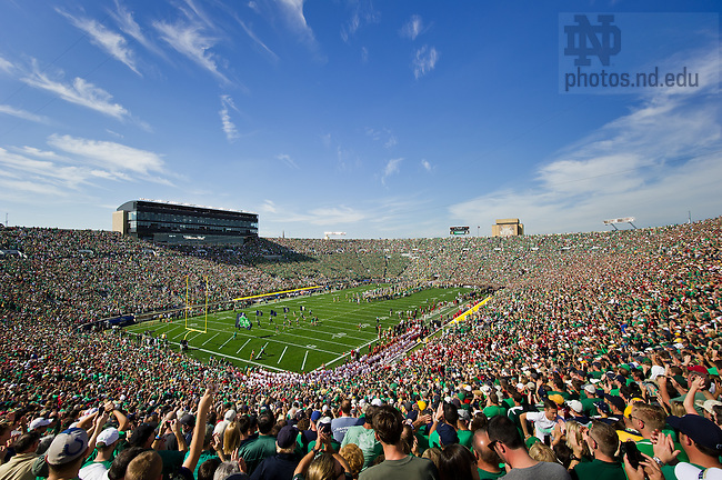 Sept. 28, 2013; Notre Dame Stadium during the Oklahoma game.<br /> <br /> Photo by Matt Cashore/University of Notre Dame