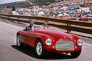 August 26th 1984, Laguna Seca Raceway, CA. 1949 Ferrari Barchetta.