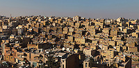 Downtown Amman, seen from the Citadel which sits on the highest hill of Amman, Jabal al-Qal'a (about 850m above sea level), Amman, Jordan. Picture by Manuel Cohen
