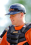 21 May 2007: Baltimore Orioles catcher Brian Bock is interviewed after Baseball's Annual Hall of Fame Game against the Toronto Blue Jays at Doubleday Field in Cooperstown, NY. Bock was the game MVP going 3-for-4 with five RBIs, two home runs including a grand slam as the Orioles defeated the Blue Jays 13-7 in front of a sellout crowd of 9,791 at the historical ballpark...Mandatory Credit: Ed Wolfstein Photo