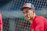 6 September 2014: Washington Nationals shortstop Ian Desmond awaits his turn in the batting cage prior to a game against the Philadelphia Phillies at Nationals Park in Washington, DC. The Nationals fell to the Phillies 3-1 in the second game of their 3-game series. Mandatory Credit: Ed Wolfstein Photo *** RAW (NEF) Image File Available ***