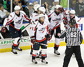 Greg Nemisz (Windsor - 64), Cam Fowler (Windsor - 24), Taylor Hall (Windsor - 4), Ryan Ellis (Windsor - 6), Zack Kassian (Windsor - 19), Dale Mitchell (Windsor - 71) - The Windsor Spitfires defeated the Plymouth Whalers 3-2 (OT) to sweep the Ontario Hockey League Western Conference Semi-Finals on Wednesday, April 7, 2010, at Compuware Arena in Plymouth, Michigan.