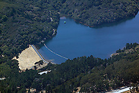aerial photograph dam Crystal Springs Reservoir, San Mateo County