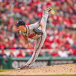 4 April 2014: Atlanta Braves pitcher Craig Kimbrel on the mound during the Washington Nationals Home Opening Game at Nationals Park in Washington, DC. The Braves edged out the Nationals 2-1 in their first meeting of the 2014 MLB season. Mandatory Credit: Ed Wolfstein Photo *** RAW (NEF) Image File Available ***