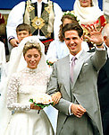 The Wedding of Crown Prince Pavlos of Greece to Marie Chantel Miller, at The Greek Orthodox Saint Sophia Cathedral in Bayswater, London