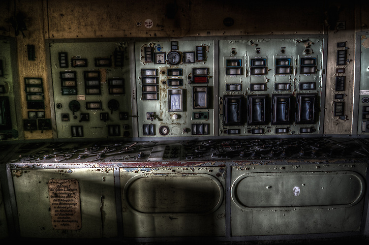 Old disused factory controls