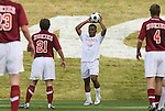 11 November 2008: NC State's Korede Aiyegbusi (ENG) (16). North Carolina State University Wolfpack defeated the Virginia Tech Hokies 3-1 at Koka Booth Stadium at WakeMed Soccer Park in Cary, NC in a men's ACC tournament first round game.