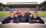 Five of Rangers new summer 2000 signings together at Ibrox: Kenny Miller, Fernando Ricksen, Peter Lovenkrands, Allan Johnston, Paul Ritchie