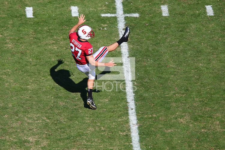 13 October 2007: Stanford Cardinal Jay Ottovegio during Stanford's 38-36 loss against the TCU Horned Frogs at Stanford Stadium in Stanford, CA.