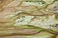 Aerial view of erosion patterns on the tundra, Alaska, USA