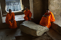 Images from the Book Journey Through Colour and Time<br /> Buddhist Monks at Ankor Wat,Cambodia