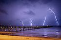 Lightning over Boston Bay Australia