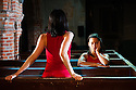 """Too Mortal"", a site-specific piece choreographed by Shobana Jeyasingh, has its London premiere at St. Mary's Old Church, Clissold Park, Stoke Newington, as part of the London 2012 Festival. The dancers are: Vanessa Abreu, Alejandra Lucrecia Bano Pelegrin, Avatara Ayuso, Noora Kela, Audrey Rogero and Emily Absalom.  Photo credit: Jane Hobson."