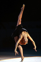Natalya Godunko of Ukraine back flexion during gala exhibition at 2006 Deriugina Cup Grand Prix in Kiev, Ukraine on March 19, 2006.  Godunko won the All-Around the day before. (Photo by Tom Theobald)<br />