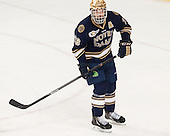 Stephen Johns (ND - 28) - The visiting University of Notre Dame Fighting Irish defeated the Boston College Eagles 2-1 in overtime on Saturday, March 1, 2014, at Kelley Rink in Conte Forum in Chestnut Hill, Massachusetts.