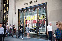 A Cole Haan store in Rockefeller Center in New York on Thursday, May 31, 2012. Nike, the owner of the Cole Haan brand, announced that it is planning on selling Cole Haan, the leather shoe and bag company and Umbro, its soccer gear brand.  (© Richard B. Levine)
