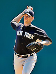 12 March 2011: New York Yankees' pitcher A.J. Burnett in action during a Spring Training game against the Washington Nationals at Space Coast Stadium in Viera, Florida. The Nationals edged out the Yankees 6-5 in Grapefruit League action. Mandatory Credit: Ed Wolfstein Photo