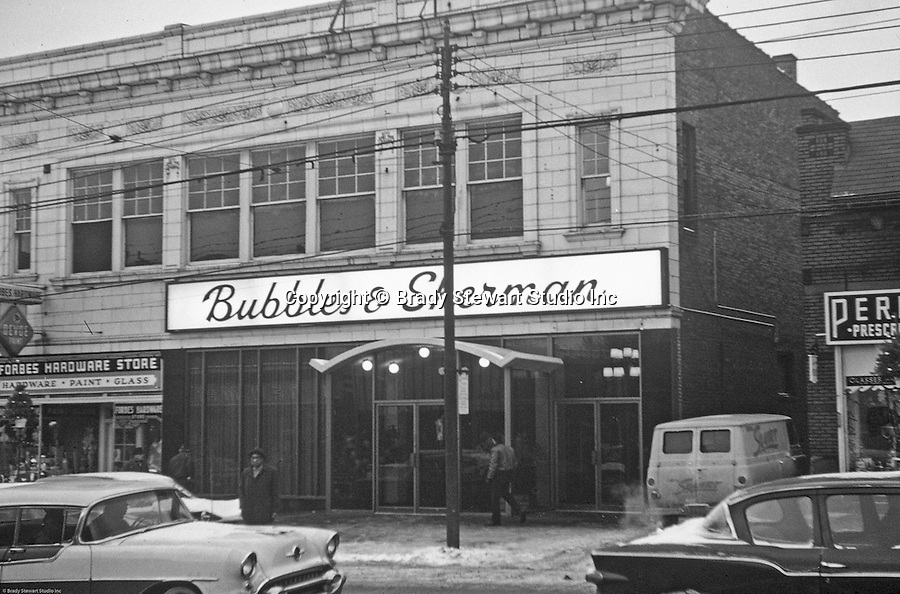 stores on the block; Forbes Hardware Store, Klyne s Clothing Store