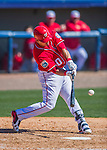 28 February 2016: Washington Nationals catcher Wilson Ramos in action during an inter-squad pre-season Spring Training game at Space Coast Stadium in Viera, Florida. Mandatory Credit: Ed Wolfstein Photo *** RAW (NEF) Image File Available ***