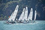 Sirena SL16 Fleet.<br /> Day3, 2015 Youth Sailing World Championships,<br /> Langkawi, Malaysia