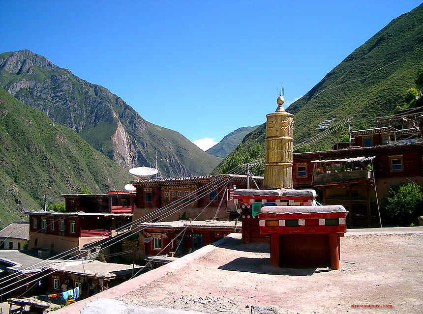 Tibet from roof top