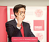Ed Miliband speaking at the Fabian Society&rsquo;s New Year Conference 2015 <br /> <br /> The People&rsquo;s Party: 2015 and beyond<br /> <br /> Rt Hon Ed Miliband MP, leader of the Labour party, keynote speech 17th January 2015 <br /> <br /> Institute of Education, 20 Bedford Way, London WC1H 0AL<br /> <br /> Ed Miliband <br /> <br /> Photograph by Elliott Franks <br /> <br /> Image licensed to Elliott Franks Photography Services