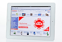 Apple Ipad showing Tesco Website  - Jan 2013.