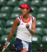 Anne Keothavong - Great Britain..Tennis - OLympic Games -Olympic Tennis -  London 2012 -  Wimbledon - AELTC - The All England Club - London - Saturday 28th June  2012. .© AMN Images, 30, Cleveland Street, London, W1T 4JD.Tel - +44 20 7907 6387.mfrey@advantagemedianet.com.www.amnimages.photoshelter.com.www.advantagemedianet.com.www.tennishead.net