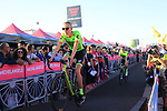 Cannondale-Drapac at the Team Presentation in Alghero, Sardinia for the 100th edition of the Giro d'Italia 2017, Sardinia, Italy. 4th May 2017.<br /> Picture: Eoin Clarke | Cyclefile<br /> <br /> <br /> All photos usage must carry mandatory copyright credit (&copy; Cyclefile | Eoin Clarke)