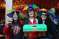 Du må tro vi har det moro, sier Anita Saksvik t.v., Turid Brandhaug og Henny Pondemer, bak, alle  fra Trondheim. Sommerfestivalen i Selbu 2009. Foto: Bente Haarstad Sommerfestivalen i Selbu er en av Norges største musikkfestivaler. Sommerfestivalen is one of the biggest music festivals in Norway.