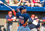 10 March 2014: Houston Astros outfielder L.J. Hoes in action during a Spring Training game against the Washington Nationals at Space Coast Stadium in Viera, Florida. The Astros defeated the Nationals 7-4 in Grapefruit League play. Mandatory Credit: Ed Wolfstein Photo *** RAW (NEF) Image File Available ***