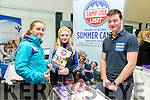 At the ITT  Careers Fair on Tuesday were Susan O'Keeffe, Katie Sheehan with Eoin Maher from Camp USA USIT