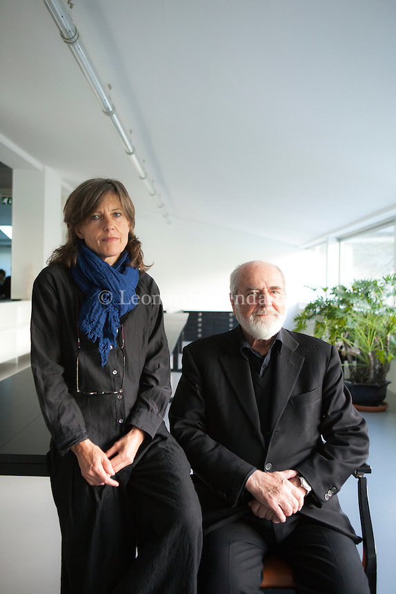 Annie Ratti and Michelangelo Pistoletto, Como, maggio 2012. © Leonardo Cendamo