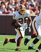 Landover, MD - October 12, 2008 --  Washington Redskins running back Clinton Portis (26) carries the ball in the fourth quarter against the  St. Louis Rams at FedEx Field in Landover, Maryland on Sunday, October 12, 2008.  The Rams won the game 19 -17..Credit: Ron Sachs / CNP