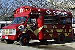31 October 2004: Gameday transportation for some dedicated Chiefs' fans. The Kansas City Chiefs defeated the Indianapolis Colts 45-35 at Arrowhead Stadium in Kansas City, MO in a regular season National Football League game..