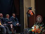 TERRYVILLE, CT- 8 June 2016-060816EC15-  Allison Trudeau, Terryville High School's Salutatorian, tears up during her speech during graduation Wednesday night. Erin Covey Republican-American