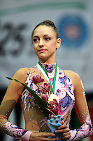 Evgeniya Kanaeva of Russia wins All Around at 2009 World Cup at Portimao, Portugal on April 18, 2009.  (Photo by Tom Theobald).