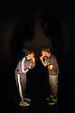 London, UK. 05.11.2013. Jonzi D — Lyrikal Fearta: The Letter & Broken Lineage, Lilian Baylis Studio, Sadler's Wells. Picture shows Jonzi D and Ivan Blackstock in an extract from Broken Lineage. Photograph © Jane Hobson.