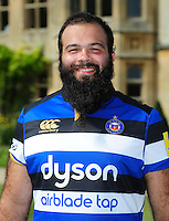 Kane Palma-Newport poses for a portrait at a Bath Rugby photocall. Bath Rugby Media Day on August 24, 2016 at Farleigh House in Bath, England. Photo by: Patrick Khachfe / Onside Images