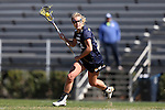 DURHAM, NC - FEBRUARY 26: Notre Dame's Molly Cobb. The Duke University Blue Devils hosted the University of Notre Dame Fighting Irish on February, 26, 2017, at Koskinen Stadium in Durham, NC in a Division I College Women's Lacrosse match. Notre Dame won the game 12-11.