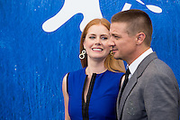 Jeremy Renner, Amy Adams  at the photocall for Arrival at the 2016 Venice Film Festival.<br /> September 1, 2016  Venice, Italy<br /> CAP/KA<br /> &copy;Kristina Afanasyeva/Capital Pictures /MediaPunch ***NORTH AND SOUTH AMERICAS ONLY***