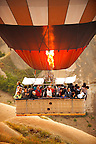 Close up of hot air baloon basket Cappadocia Turkey