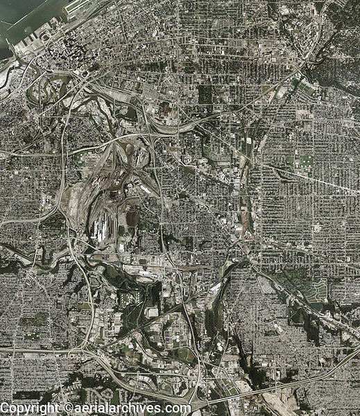 aerial map Cleveland Ohio
