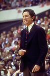 28 MAR 1977:  Marquette coach Al McGuire during the NCAA Men's National Basketball Final Four championship game against North Carolina held in Atlanta, GA, at the Omni. Marquette defeated North Carolina 67-59 for the championship. Photo Copyright Rich Clarkson/NCAA Photos.SI CD 0431-28